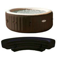 Intex PureSpa 4 Person Inflatable Bubble Jet Portable Hot Tub with Bench Add On