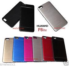 Funda Carcasa para HUAWEI P8 LITE Resistente Aluminio metalica Colores