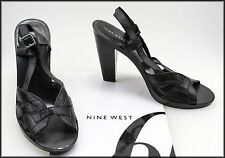 NINE WEST WOMEN'S HIGH HEELED OPEN TOE SHOES SIZE 8.5