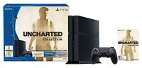 """New Sony PlayStation 4 PS4 500GB """"Uncharted: The Nathan Drake Collection"""" Bundle"""