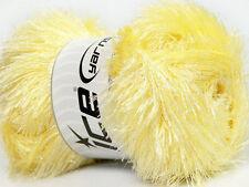 Large 100 gram skein Baby Yellow Eyelash Glitz #35795-46552 Sparkly Eyelash Yarn