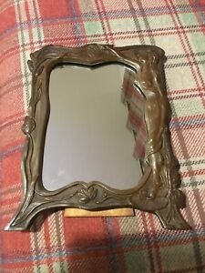 Charmingly Decorative Art Nouveau Free Standing Mirror