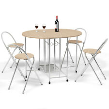 Kitchen Table Set Folding Breakfast Bar 4 Person Chair Space Saver Small Dining