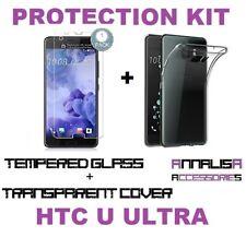 KIT COVER + PELLICOLA VETRO TEMPERATO HTC U ULTRA CUSTODIA CASE + TEMPERED GLASS