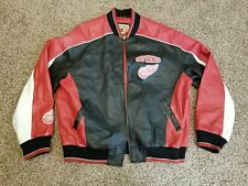 Detroit Red Wings Faux Leather Jacket GIII Carl Banks Size XL