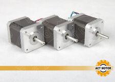 ACT Motor GmbH 3PCS Nema17 17HS3404 Schrittmotor 0.4A 34mm 2800g.cm 3D Drucker