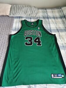 Boston Celtics Reebok AUTHENTIC Paul Pierce Green BLACK ALTERNATE JERSEY 52 Rare
