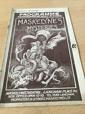 More details for maskeynes mysteries 1928 theatre programme
