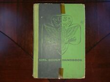 Vintage Girl Scout Handbook 1953 1955 Green Hardcover Hardback Book Manual USA