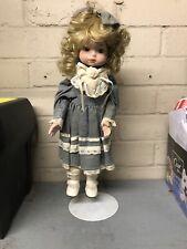 Vintage Porcelain Doll & Stand