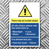 There may be trouble ahead warning sticker - funny morecambe & wise decal A5