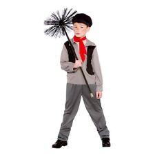 Kids Boys Victorian Chimney Sweep Bert Urchin Book Week Fancy Dress Costume Kit