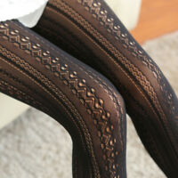 Sexy Fishnet Hollow Out Lace Vertical Strips Pantyhose Tights Colorful Stockings