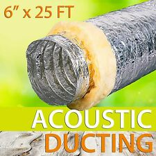 "6""x 25 FT INSULATED ACOUSTIC DUCTING Hydroponics Heat Recovery"