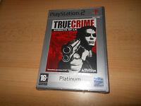 tout neuf et scellé PLAYSTATION 2 True Crime rues de la PS2 jeu
