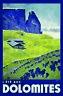 L ´ ÉTÉ AUX Dolomites Blechschild Schild gewölbt Tin Sign 20 x 30 cm CC0741