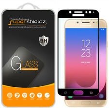 2X Supershieldz Samsung Galaxy J7 Pro Full Cover Tempered Glass Screen Protector