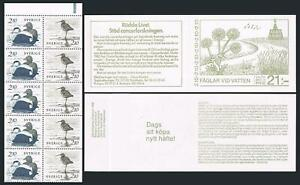 Sweden 1582-1583a booklet,MNH.Michel MH 112. Water birds,1986.Eider,Smaspov
