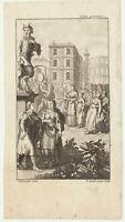 Hirtengott PAN Satyr Orig. Kupferstich um 1780 Frauen machen MUSIK Trommel Kunst