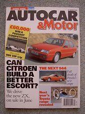 Autocar (27 March 1991) Colt GTi v Mazda 323 GT, Citroen ZX, Morgan, Jeep, Saab