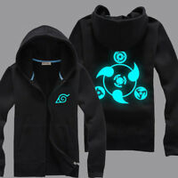 Anime Naruto0 Sharingan Uzumaki Hoodie Sweatshirt Pullover Jacket Zipper Coat