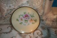 SHABBY ANTIQUE BUTTERY FLORAL PLATE CHIC GERMANY