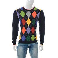 Brooks Brothers Hommes Ras Cou Arc-En-Ciel Couleur Argile Pull Tricot Ls Shirt M