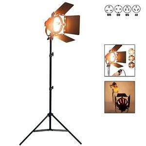 Dimmable Redhead 800W Continuous Studio Spot Flood Light Tungsten Stand Kit UK