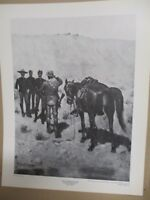 REMINGTON Military Print ~THE MESSENGER~ Vintage Print from Gilcrease Museum