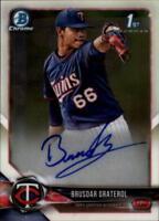2018 Bowman Chrome Baseball Prospects Autograph Singles (Pick Your Cards)