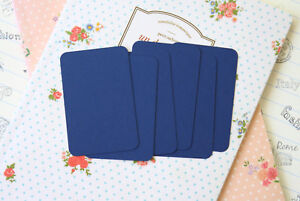 Navy Blue blank Business Cards ATC wedding craft DIY name place pocket letters
