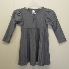 Old Navy 2T Dress Metallic Gray Sparkle Bling Holiday Puffed Sleeves Pleated