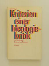 Kriterien einer Ideologiekritik Albert Stüttgen