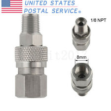 1/8 Npt Male To 8mm Female Adaptor Quick Disconnect Hose Connector Paintball Us