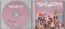 VENGABOYS Where Did My Xmas Tree Go? 2014 Dutch 2-track promo test CD