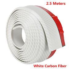 White Carbon Fiber Car Front Bumper Splitter Spoiler Lip valance Skirt Protector