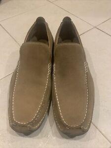 Mens Beige Cole Hahn Suede Loafer Size 9.5 M