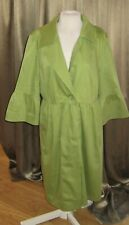 Apt. 9 Green Lightweight Spring Fully Lined Women's Coat 3/4 Sleeve Size Medium