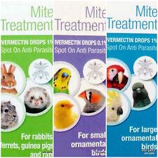 Ivermectin 1% FUR EAR & MANGE MITES & LICE & Bird Wormer