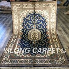 YILONG 5'x8' Hand Knotted Silk Home Carpet Family Room Antistatic Rug ZW198C