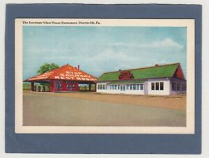 MINT VINTAGE LINEN-ROADSIDE RESTAURANT-INTERSTATE GLASS HOUSE-MORRISVILLE, PA.