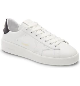 Golden Goose Pure Star Leather Low Top Sneakers Shoes White Black 41j EU 8 US