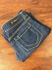 SERFONTAINE Straight Leg MATERNITY Fit Blue Jeans Women's Denim Pants Size 30