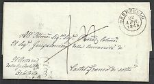 Italy 1845 folded letter ORBETELLO in brown to Castelfranco
