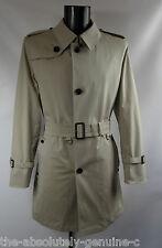 AQUASCUTUM 'CORBY' Rain Trench Coat BEIGE sz 44 BNWT Made in UK with stretch