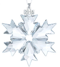 Nib$79 Swarovski Annual Edition 2018 Christmas Ornament Snowflake Large #5301575