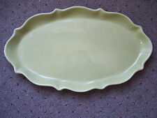 """Vintage Rare Waterford Great Room Green Tea 16.5"""" Oval Serving Platter"""