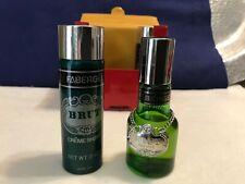 Vintage Faberge BRUT After Shave LOTION 1 1/2 Oz & Shaving Cream 2 oz.