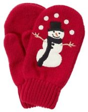 GYMBOREE SNOW CHILLIN' RED SNOWMAN SWEATER MITTENS 0 12 24 2T 3T  NWT