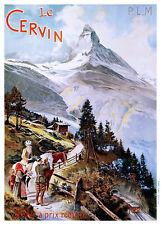 Affiche chemin de fer PLM - Cervin